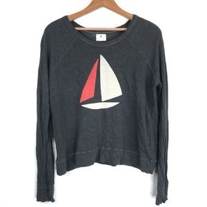 Sundry Sailboat Pullover in Gray